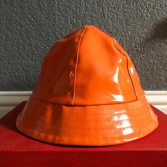 Accessories - Orange patent leather bucket hat 206c0c368a0